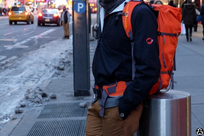 Definitely walked around looking like I was backpacking Yosemite.